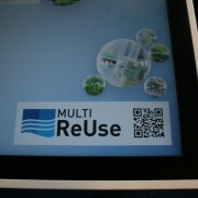 MULTI-ReUse Touchtable auf dem Statusseminar der BMBF-Fördermaßnahme WavE in Frankfurt.